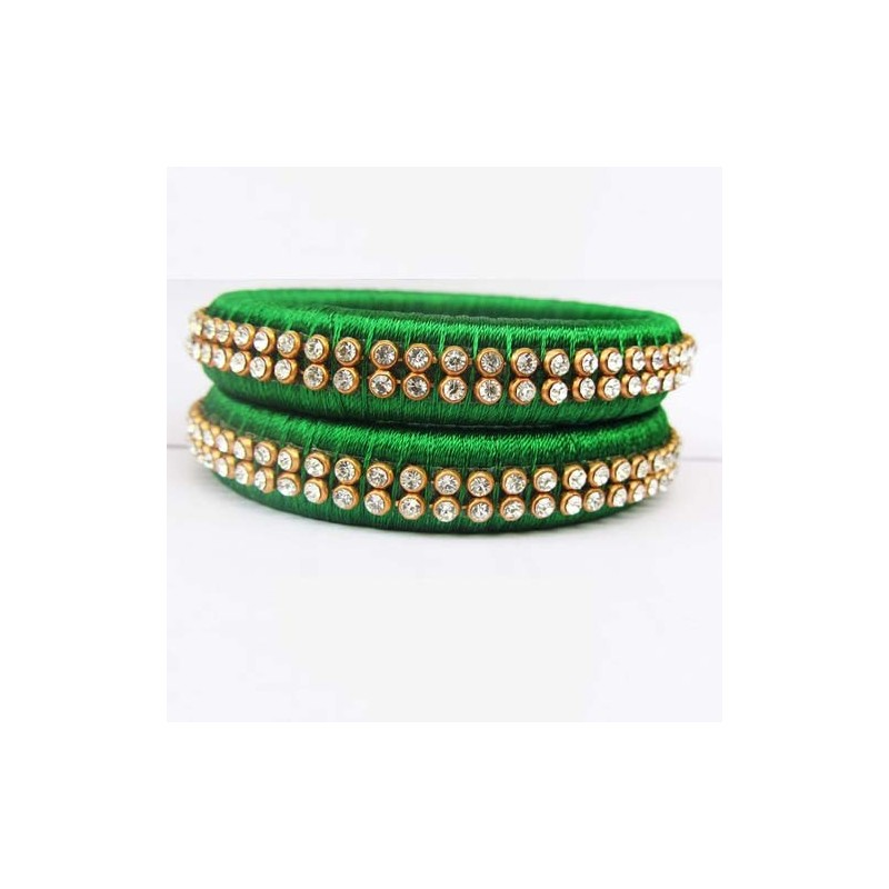 online and stone green stones hyderabad bracelet buy studded designs bangle zoom jewels designers bangles