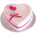 Heart Shaped Strawberry Cake 1 kg (Berry N Blossom)