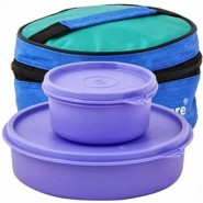 Tupperware Classic 2 Containers Lunch Box(730 ml)