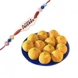 Besan Ladoo with friendship band