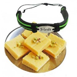 Milk Burfi with friendship band