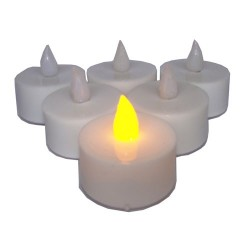 Eshoplift YELLOWColour Led T Light Candles - Pack Of 06