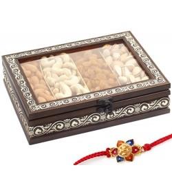 Ghasitaram Rakhi Special Mx Dryfruit Fancy Window Box 400gms