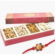 Ghasitaram Rakhi Special Pink Dryfruit Box 200gms