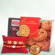 Chocolate Cookies with Rakhi