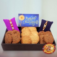 Cookies with 2 Rakhi Hamper