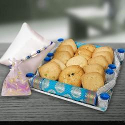 Rakhi with Cookies Hamper