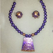 Golden Violet teracotta jewellery