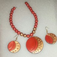 Orange Trendy Terracotta Jewellery