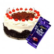Blackforest Cake n Dairy milk combo