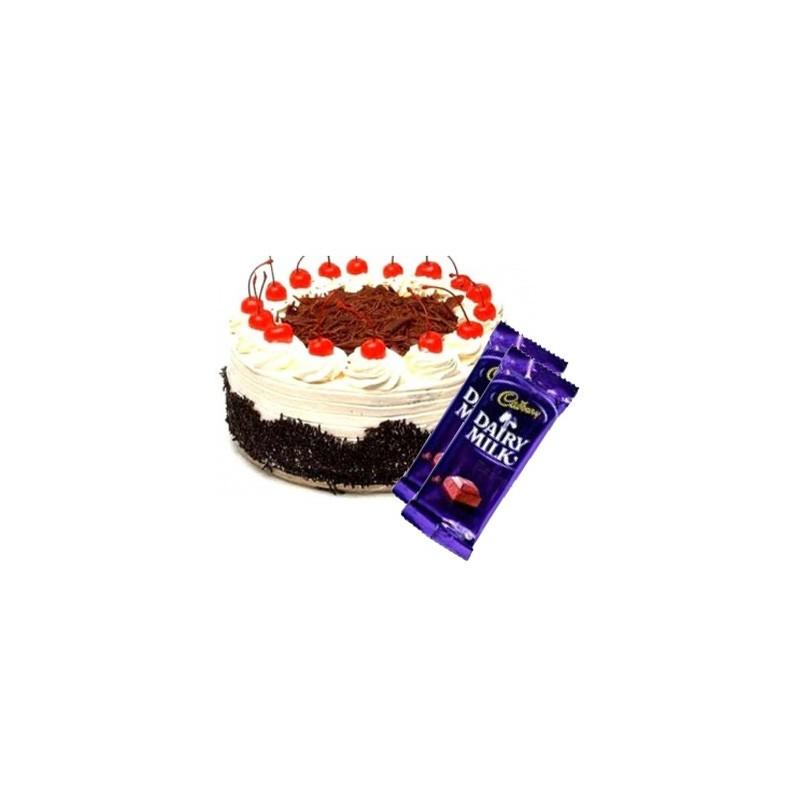 Blackforest Cake n Dairy milk combo