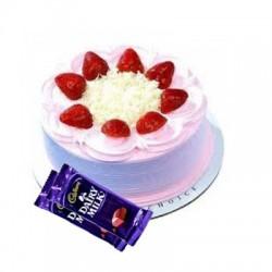 Strawberry Cake n Dairy milk combo