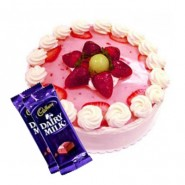 Strawberry Cake n Dairy milk combo2