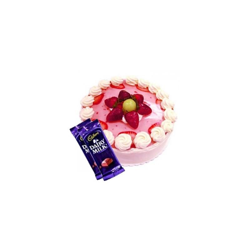 Strawberry Cake n Dairy milk combo2