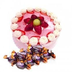 Strawberry Cake n  25 eclairs combo2