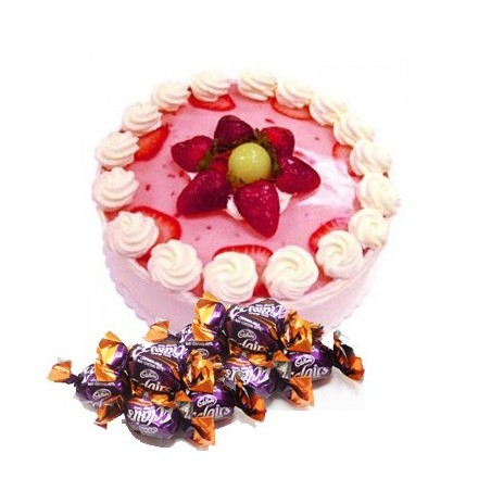 Strawberry Cake n  25 eclairs combo2