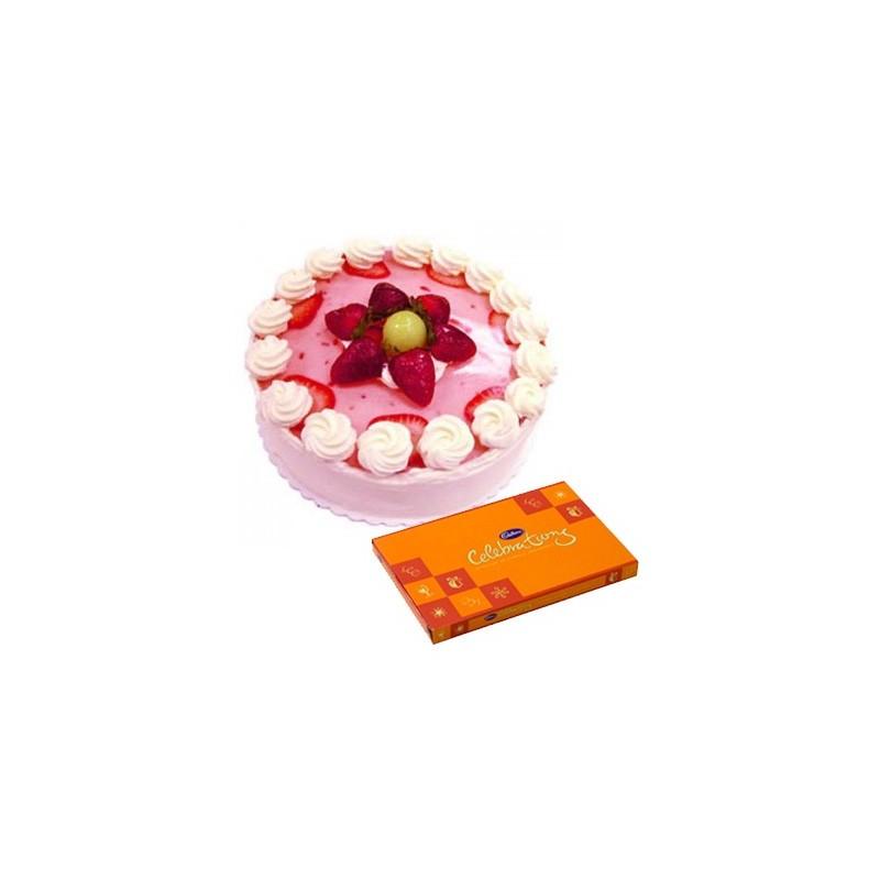 Strawberry Cake n Celebration combo2