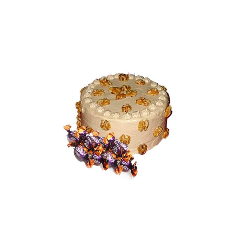 Butterscotch Cake n  25 eclairs combo