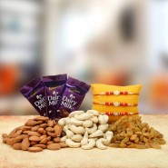 Dryfruits with chocolate Rakhi Treat