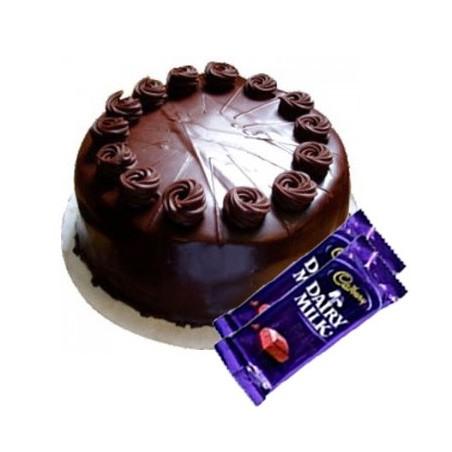 Chocolate Truffle Cake n Dairy milk combo