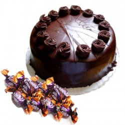 Chocolate Truffle Cake n  25 eclairs combo
