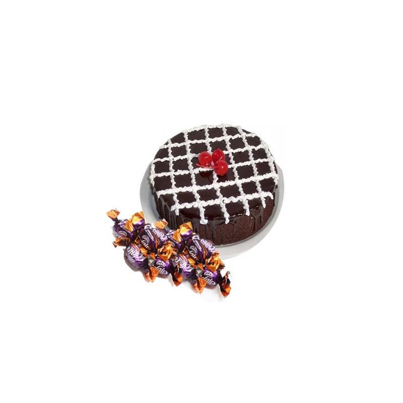 Chocolate Truffle Cake n  25 eclairs combo2
