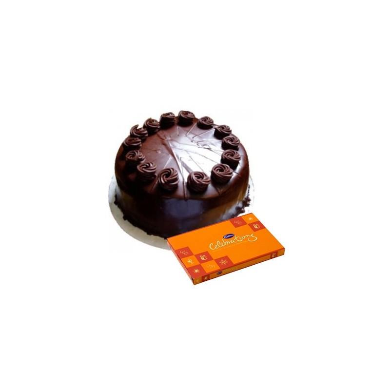 Chocolate Truffle Cake n Celebration combo