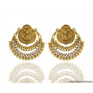 Gold Plated Pearl Copper Chandbali Earring