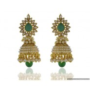 Fancy Pearl Copper Jhumki Earring