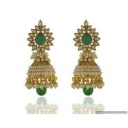 Fancy Pearl Copper Jhumki Earring