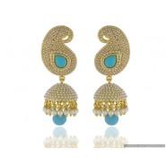 Mango Shape Pearl Copper Jhumki Earring