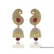 Beautiful Pearl Copper Jhumki Earring