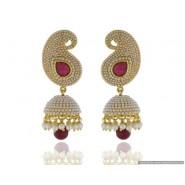 Beautiful Pearl Copper Jhumki Earring