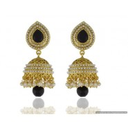 Casual Pearl Copper Jhumki Earring