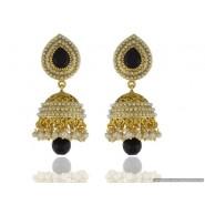 Casual Pearl Copper Jhumki Earring