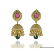 New Fancy Pearl Copper Jhumki Earring