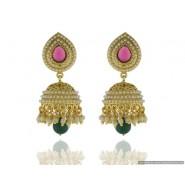 New Fancy Pearl Copper Jhumki Earring