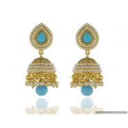 Stylish Pearl Copper Jhumki Earring