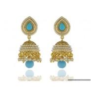 Stylish Pearl Copper Jhumki Earring