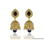 Fashionable Pearl Copper Jhumki Earring