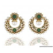Half-Moon Shape Pearl Copper Chandbali Earring