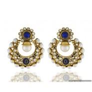 Beautiful Pearl Copper Chandbali Earring