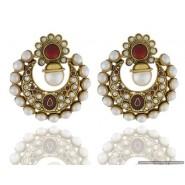 Gold Plated Pearl Copper Chandbali Earring