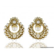 Beautiful Pearl Copper Chandbali Earring