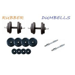 8 Kg Rubber Weight Plates +...