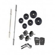 Home Gym Anson Weight Lifting Package 60 Kg Weight + 4 Rods + Dumbells + Gloves
