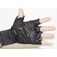 Padded Leather Gym Gloves Along With Wrist Support New Design..!!!!!!!!