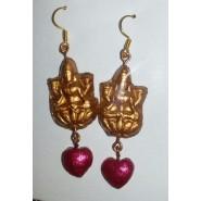 Lord Lakshmi Pinkish Earring