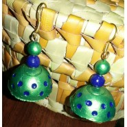 Green n Blue Terracotta earring