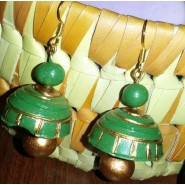 Green n gold terracotta hanging